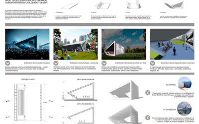 Ganador en la categoría de Diseño – 130 – Multicelebrations SpaceWinner of design competition – 130 – Multicelebrations Space