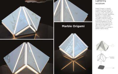 Ganador en la categoría Diseño – Marble OrigamiWinner of Design Competition – Marble Origami